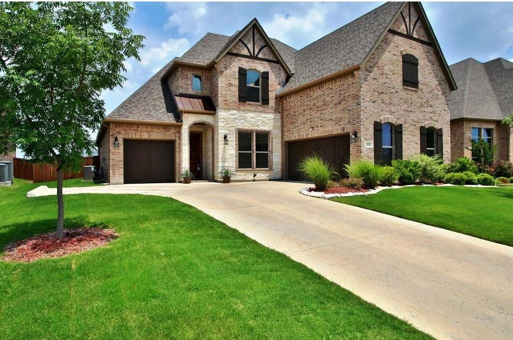 Gorgeous Curb Appeal, Carriage House Garage Doors, Wood Shutters